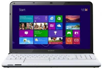 Ноутбук Sony VAIO SV-E1512G1R/W - фронтальный вид