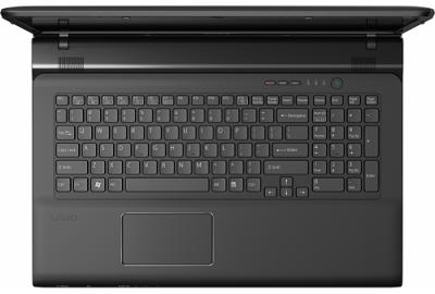 Ноутбук Sony VAIO SV-E1712E1R/B - вид сверху