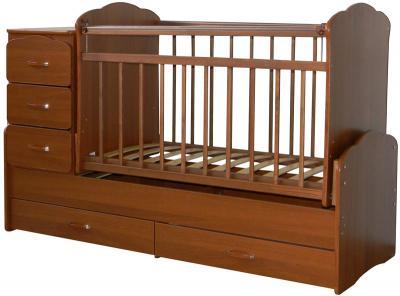 Детская кровать-трансформер СКВ 930037 (Орех) - общий вид