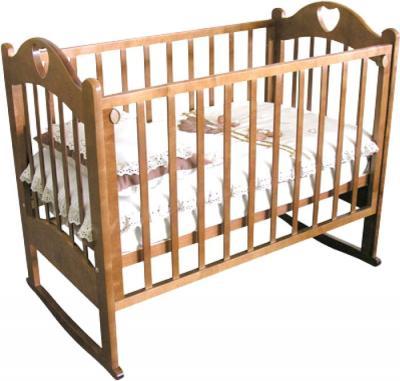 Детская кроватка Красная звезда Любаша С635 (Орех) - общий вид