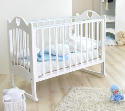 Детская кроватка Красная звезда Любаша С635 (Белая) - в интерьере