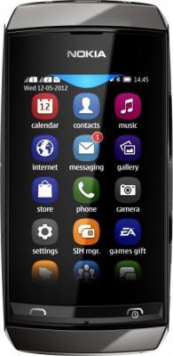 Мобильный телефон Nokia Asha 305 Dark Gray - общий вид