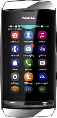Мобильный телефон Nokia Asha 305 Silver-White - общий вид