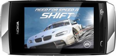 Мобильный телефон Nokia Asha 305 Silver-White - перевернутый