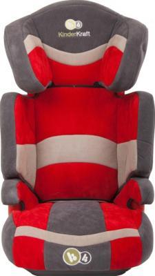 Автокресло KinderKraft Junior Red - вид спереди