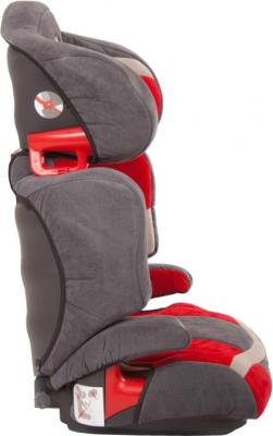 Автокресло KinderKraft Junior Red - вид сбоку