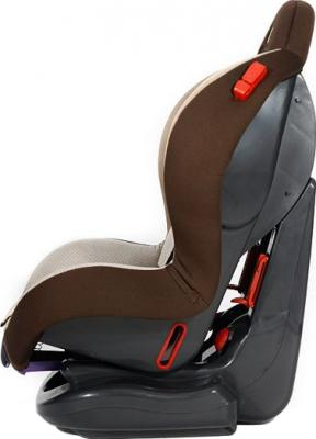 Автокресло KinderKraft Shell Plus Brown - вид сбоку