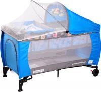 Кровать-манеж Caretero Grande Blue -