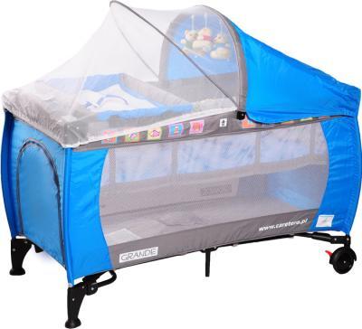 Кровать-манеж Caretero Grande Blue - общий вид