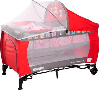 Кровать-манеж Caretero Grande Red - общий вид