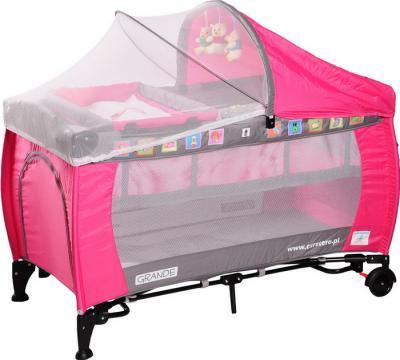 Кровать-манеж Caretero Grande (Pink) - общий вид