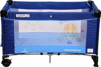 Кровать-манеж Caretero Simplo (Blue) - общий вид