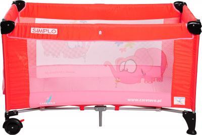Кровать-манеж Caretero Simplo Red - общий вид