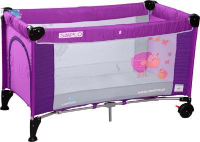 Кровать-манеж Caretero Simplo (Rose (Violet)) - общий вид