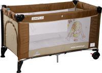 Кровать-манеж Caretero Simplo (Brown-Beige) -