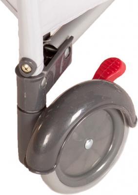 Кровать-манеж KinderKraft Jolly KKJBGR (серый) - колеса с механизмом блокировки
