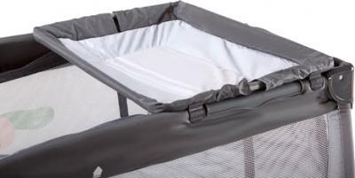 Кровать-манеж KinderKraft Jolly KKJBGR (серый) - пеленальный столик