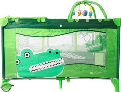 Кровать-манеж KinderKraft Jolly KKJC - вид сбоку