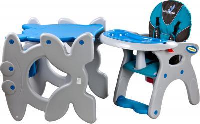 Стульчик для кормления Caretero Primus (синий) - стол+стул