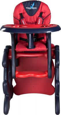 Стульчик для кормления Caretero Primus  (красный) - вид спереди