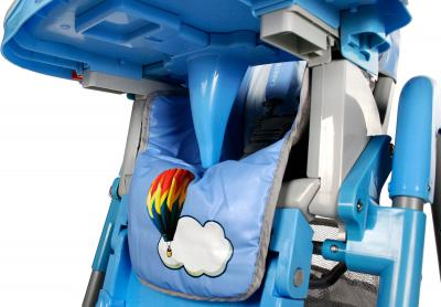Стульчик для кормления Caretero Magnus (синий) - защитная перегородка
