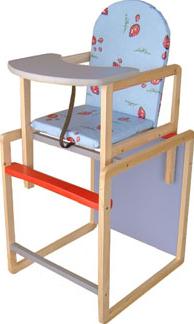 Стульчик для кормления Апельсиновая зебра Непоседа-4 Комфорт (голубой) - высокий стульчик