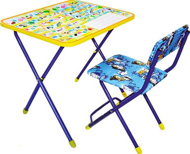 Стол+стул Ника КП2 Русско-английская азбука - общий вид