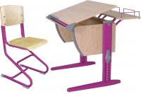 Парта+стул Дэми СУТ 14-01 (розовый, клен) -