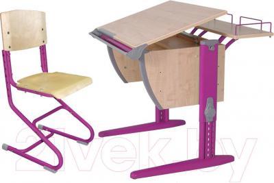Парта+стул Дэми СУТ 14-01 (розовый, клен) - общий вид