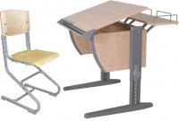 Парта+стул Дэми СУТ 14-01 (серый, клен) -