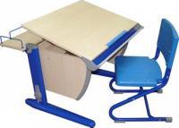 Парта+стул Дэми СУТ 14-01 (синий, клен) -