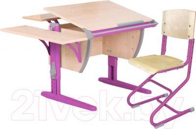 Парта+стул Дэми СУТ 14-02 (розовый, клен) - общий вид