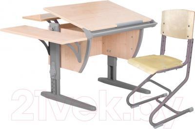 Парта+стул Дэми СУТ 14-02 (серый, клен) - общий вид