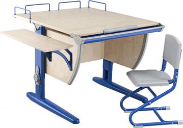 Парта+стул Дэми СУТ 14-02 (синий, клен) - общий вид