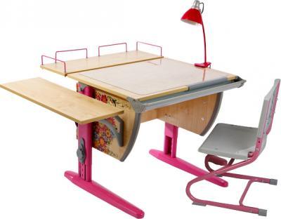 Парта+стул Дэми Цветы СУТ 14-02 (розовый, клен) - общий вид