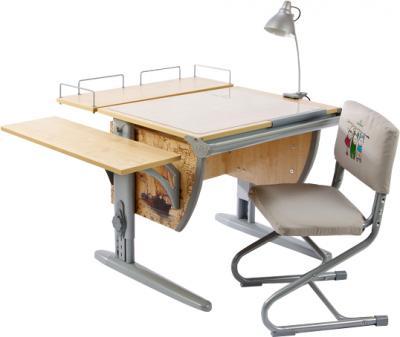 Парта+стул Дэми Фрегат СУТ 14-02 (серый, клен) - общий вид