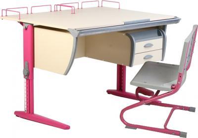 Парта+стул Дэми СУТ 15-04 (розовый, клен) - общий вид