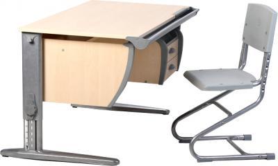 Парта+стул Дэми СУТ 15-04 (серый, клен) - общий вид