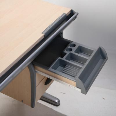 Парта+стул Дэми СУТ 15-04 (серый, клен) - выдвижной ящик