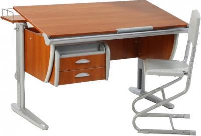 Парта+стул Дэми СУТ 15-04 (серый, яблоко) - общий вид
