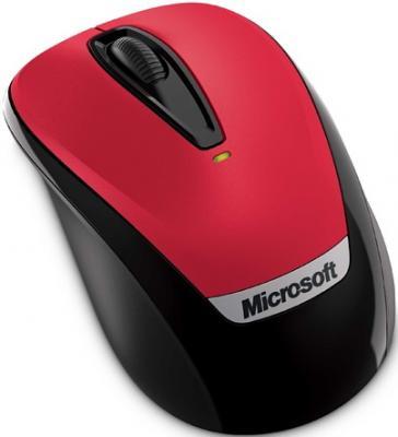 Мышь Microsoft Wireless Mobile Mouse 3000 Hibiscus Red (2EF-00021) - общий вид
