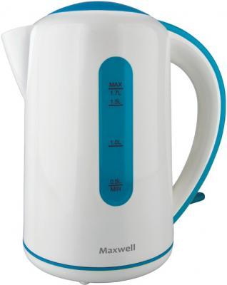 Электрочайник Maxwell MW-1028 (бело-синий) - общий вид