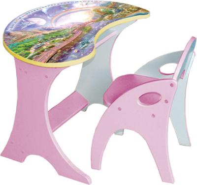 Стол+стул Интехпроект Капелька Космошкола 14-301 (розовый) - общий вид