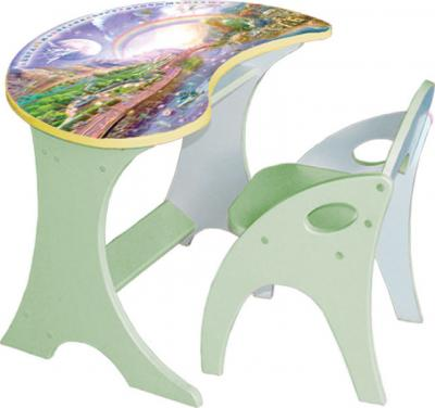 Стол+стул Интехпроект Капелька Космошкола 14-304 (салатовый) - общий вид