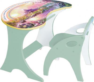 Стол+стул Интехпроект Капелька Волшебный остров 14-309 (салатовый) - общий вид