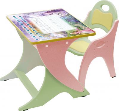 Стол+стул Интехпроект Зима-лето 14-332 (фисташковый и розовый) - общий вид