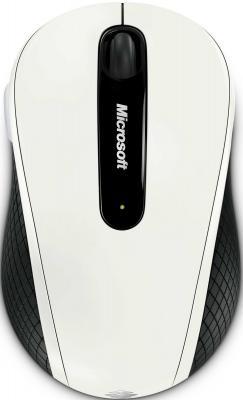 Мышь Microsoft Wireless Mobile Mouse 4000 Dove White Ravel - общий вид