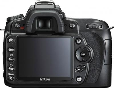 Зеркальный фотоаппарат Nikon D90 Kit 18-55mm VR + 55-200mm VR - вид сзади