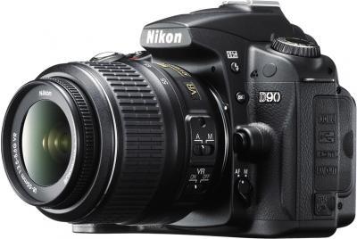 Зеркальный фотоаппарат Nikon D90 Kit 18-55mm VR + 55-200mm VR - общий вид