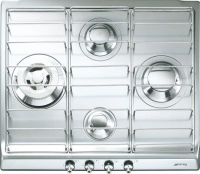 Газовая варочная панель Smeg SER60SX3 - общий вид
